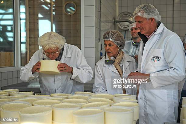 French Agriculture Minister Michel Barnier EU Commissioner for Health Androulla Vassiliou and EU Agriculture Commissioner Mariann Fischer Boel visit...