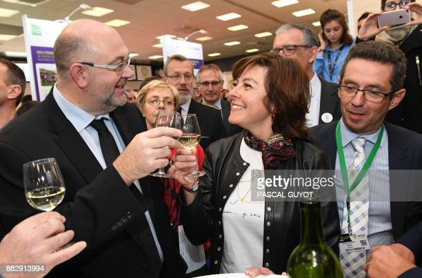 French Agriculture minister Stephane Travert and President of the Occitania Region Carole Delga visit the Sitevi international exhibition an...
