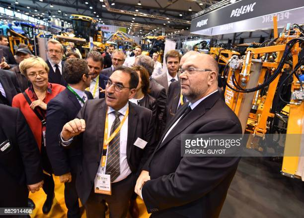 French Agriculture minister Stephane Travert visits the Sitevi international exhibition an international fair for equipment and expertise exhibition...