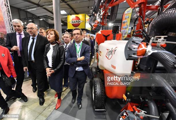French Agriculture minister Stephane Travert with President of the Occitania Region Carole Delga visit the SITEVI international exhibition an...