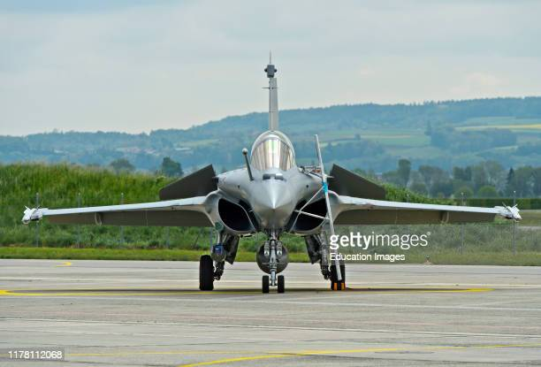 French Air Force Dassault Rafale B 4FU SPA 81 fighter aircraft presentation on the Payerne military airfield in the context of the AIR2030...