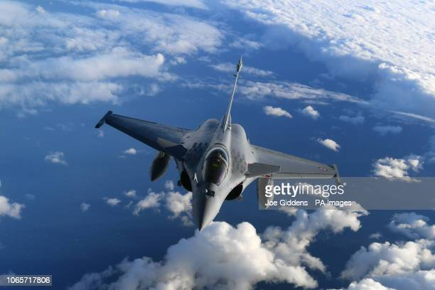 A French Air Force Rafale over the English Channel during Operation Point Blank which featured aerial capabilities from the RAF United States Air...