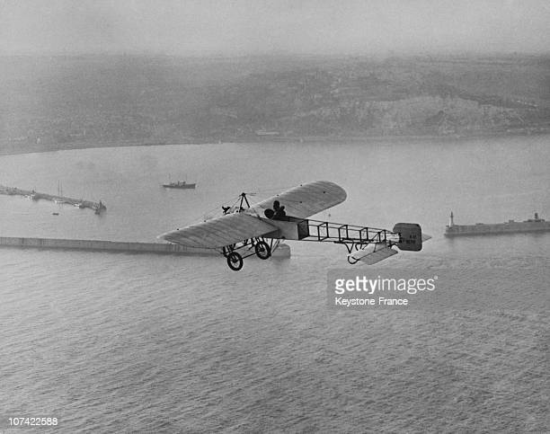 French Aircraft Bleriot Crossing The English Channel In France On July 1955