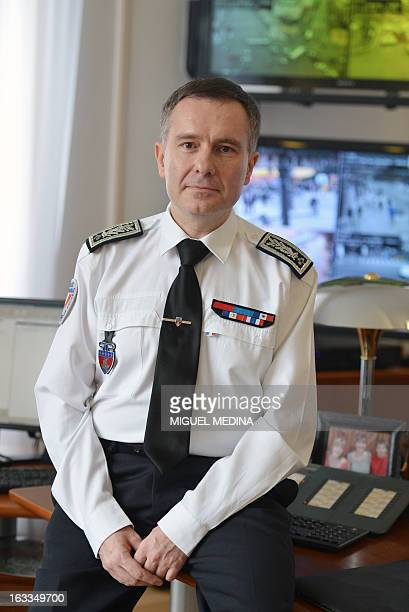 French Alain Gibelin director of public order and traffic at the Paris police prefecture poses in March 8 at the headquarter AFP PHOTO MIGUEL MEDINA