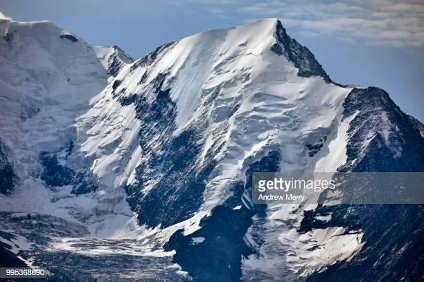 french alps mountain peak near mont blanc - pinnacle peak stock-fotos und bilder
