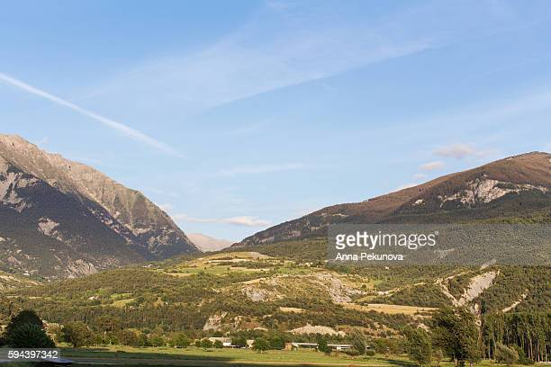 french alps seem from embrun, france - embrun stock pictures, royalty-free photos & images