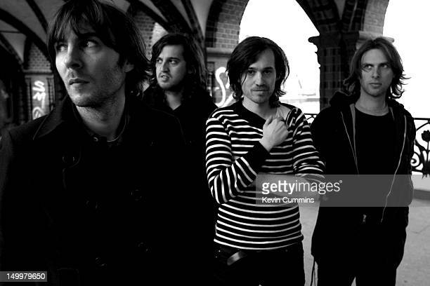 French alternative rock group Phoenix Berlin 12th April 2006 Singer Thomas Mars is at far left