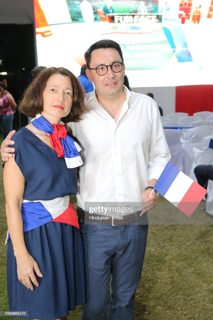 Screening Of FIFA World Cup Final Match At French Embassy