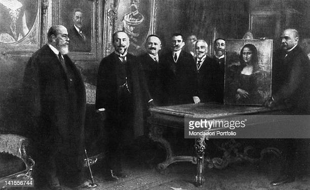 French ambassador Camille Barrere director of the French Accademy Albert Besnard Italian Minister of Foreign Affairs Antonino Paterno Castello...