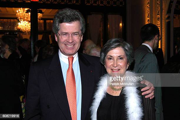 French Ambassador JeanDavid Levitte and Michele Myers attend CURTAIN UP Celebrating SARAH LAWRENCE COLLEGE Retiring President MICHELE MYERS at The...