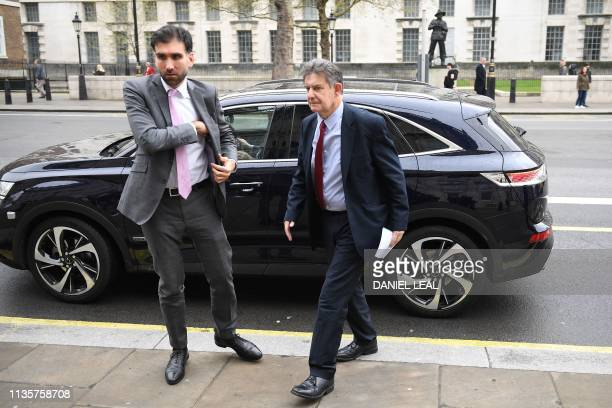French ambassador JeanPierre Jouyet arrives at the cabinet office in central London on April 8 2019 Prime Minister Theresa May will today press ahead...