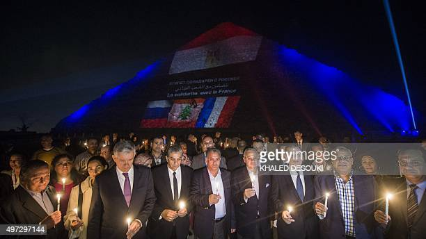 French Ambassador to Egypt Andre Parant Egyptian minister of Environment Khaled Fahmy Egyptian antiques minister Mamduh alDamati Egyptian Tourism...