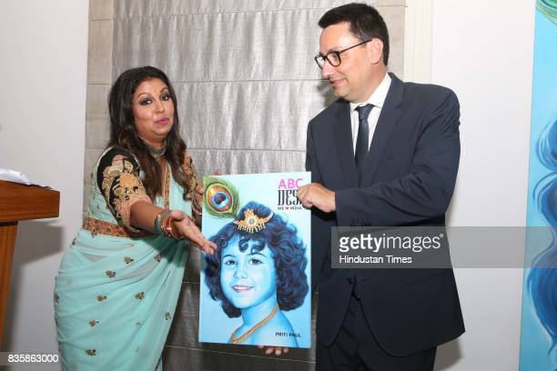 French Ambassador to India Alexandre Ziegler with Businesswoman Priti Paul during the launch of businesswoman Priti Paul's debut book that aims at...