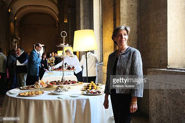French ambassador to Italy Catherine Colonna attends the 'Gout De France / Good France' press conference at the France's embassy on March 11 2015 in...