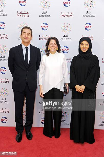 French Ambassador to the State of Qatar Eric Chevallier US Ambassador to the State of Qatar Dana Shell Smith and CEO of Doha Film Institute Fatma Al...