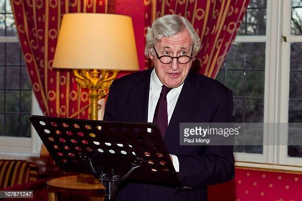 French Ambassador to the United States Pierre Vimont makes a few remarks at presentation of the National Order of the Legion of Honour Officier Award...