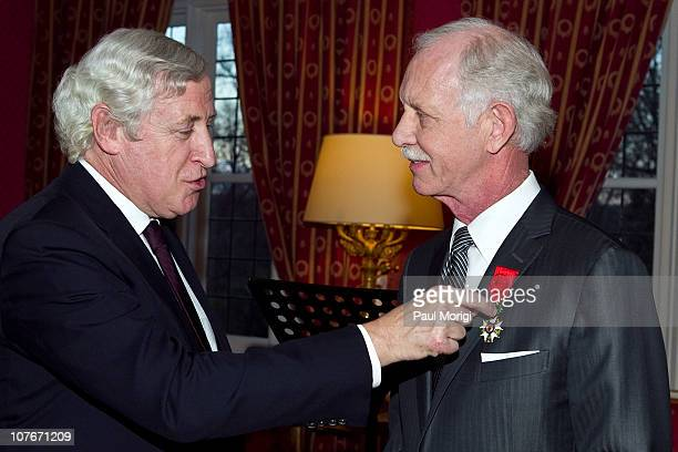 French Ambassador to the United States Pierre Vimont presents US Airways Capt Chesley 'Sully' Sullenberger the National Order of the Legion of Honour...