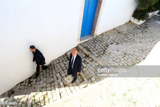 French Ambassador to Tunisia Olivier Poivre d'Arvor attends the funeral ceremony of Tunisian fashion designer Azzedine Alaia who died in aged 77 in...
