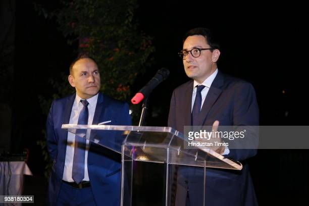 French ambassdor Alexandre Ziegler during fourth edition of the global event Gout de France at French embassy Chanakyapuri on March 21 2018 in New...