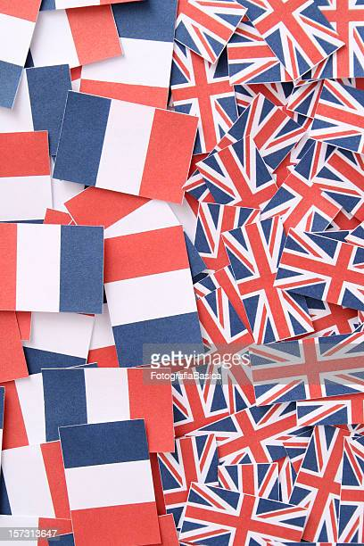 French and british flags