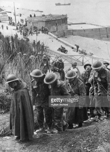 French and British troops taken prisoner by the Germans at Dunkirk during World War II May 1940