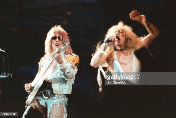 J French and Dee Snider of Twisted Sister perform in Minnesota in 1986