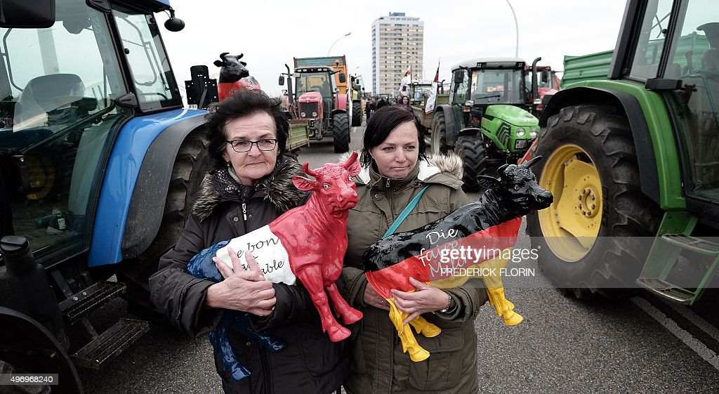 FRANCE-GERMANY-AGRICULTURE-UNIONS-DEMO : News Photo