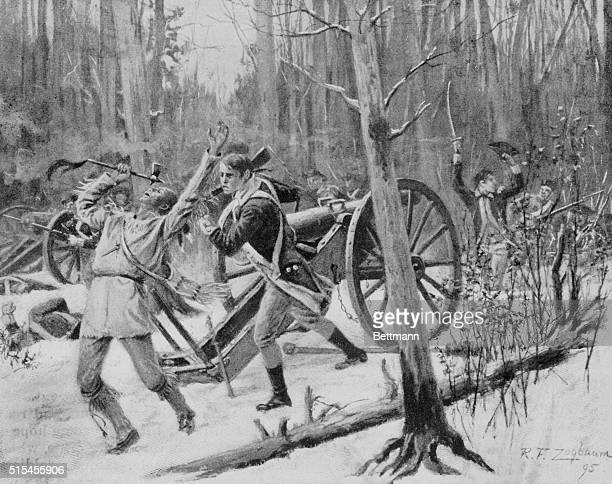 Again And Again The Officers Led Forward The Troops Confrontational scene from the French and Indian War
