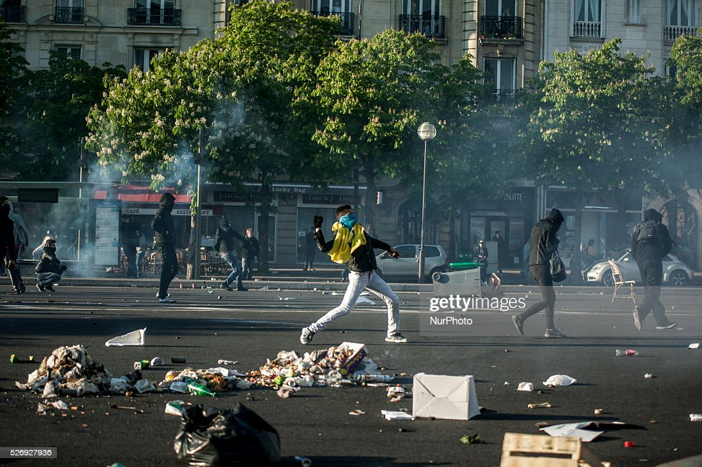 May Day Protests In France : News Photo
