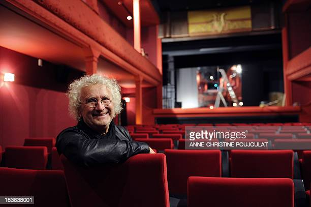 French architect Andre Stern who directed a story on the matter poses on October 4 2013 in the projection room of the world's oldest cinema L'Eden in...