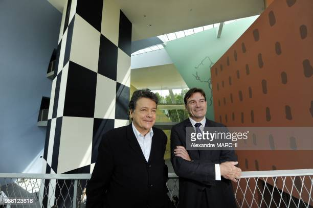 French architect Christian de Portzamparc and project owner Walter De Toffol