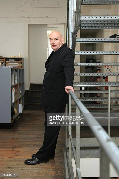 French architect Jean Nouvel poses in Paris on March 30 2008 Nouvel was named in Los Angeles Sunday as the winner of the 2008 Pritzker Architecture...