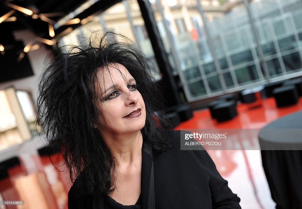 French architect Odile Decq poses on May 28, 2010 in the new exhibition spaces she designed at the MACRO, Museum of Contemporary Art of Rome (Museo d'Arte Contemporanea Roma), during a press preview in Rome.
