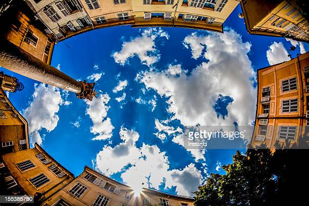 french architecture - aix en provence stock pictures, royalty-free photos & images