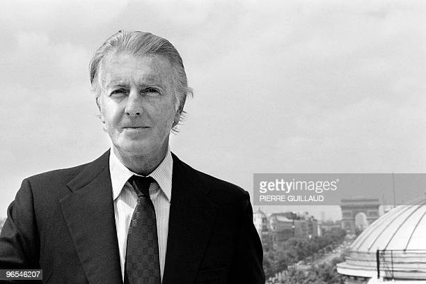 French aristocrat and fashion designer Hubert de Givenchy poses on July 27 1978 in Paris AFP PHOTO PIERRE GUILLAUD