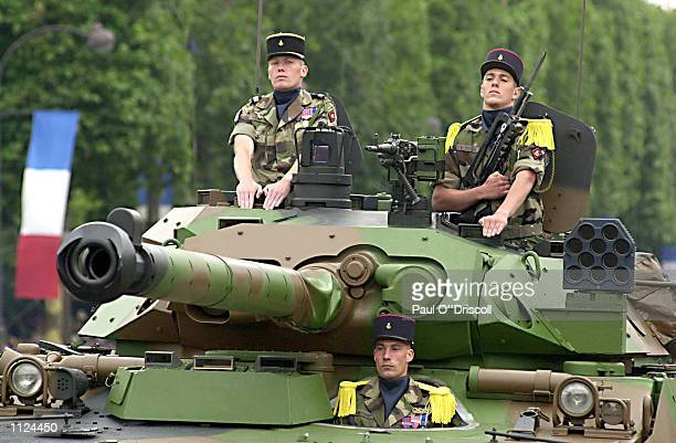 French armored unit participates in the Bastille Day military parade July 14 2002 in Paris France The Bastille Day military parade commemorates the...