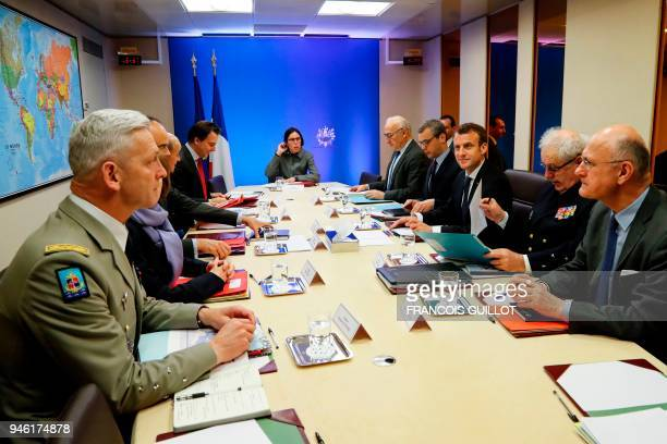 French Army Chief of Staff General Francois Lecointre French Defence Minister Florence Parly French Prime Minister Edouard Philippe French Foreign...