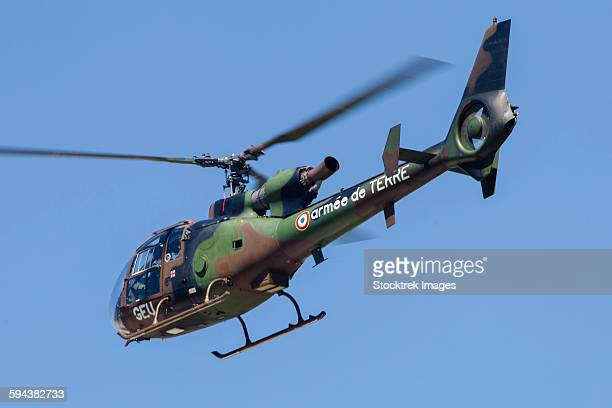 french army gazelle helicopter from the training unit at le luc, france. - french army stock pictures, royalty-free photos & images