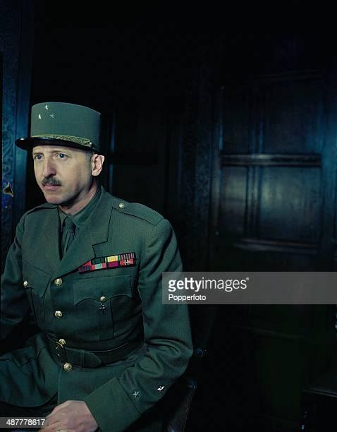 1944 French Army Officer General MariePierre Koenig during World War Two June 1944