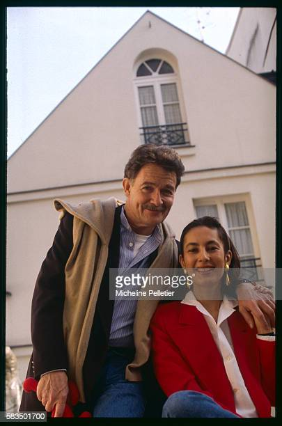 French artist Jacques Charrier relaxes at home with his wife Linda