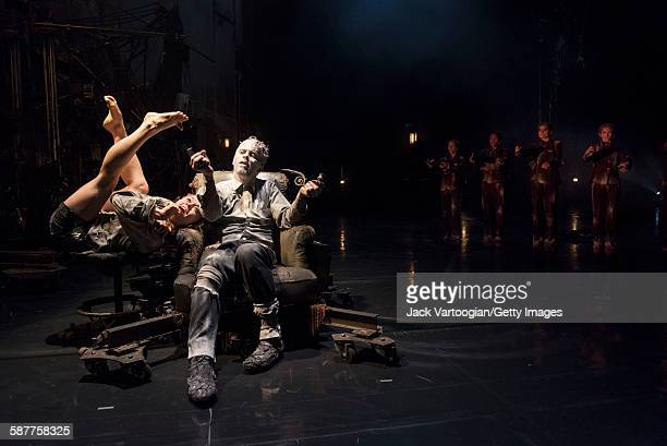 French artist James Thierree and Canadian contortionist Valery Doucet along with their fellow La Compagnie du Hanneton performers perform in the...