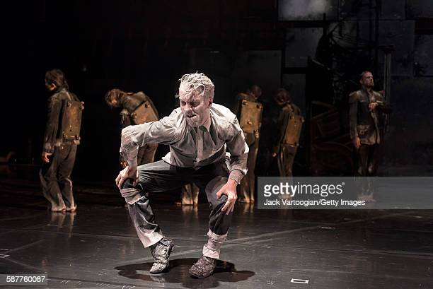 French artist James Thierree and fellow La Compagnie du Hanneton performers perform in the final dress rehearsal of 'Tabac Rouge' during the Next...