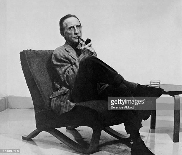 French artist Marcel Duchamp, Greenwich Village, New York, circa 1945.