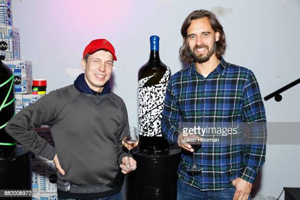 French Artists Sowat and Lek attend the 'Nektart Wine ' cocktail party at Palais De Tokyo on November 29 2017 in Paris France