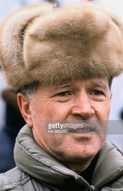 French astronaut JeanLoup Chretien in Kazakhstan on November 26th 1988