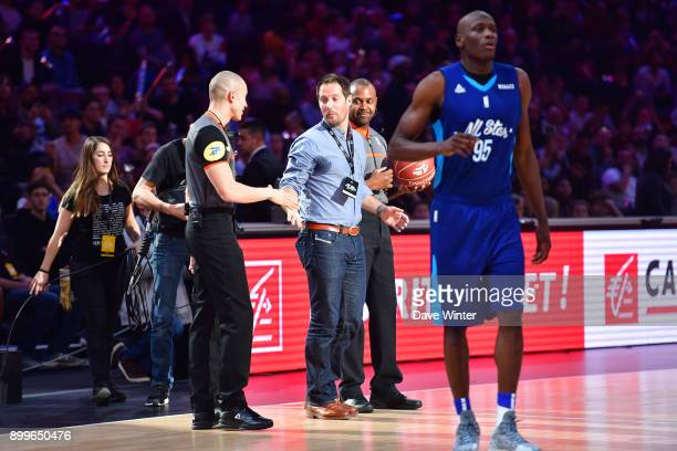 French astronaut Thomas Pesquet during the All Star Game at AccorHotels Arena on December 29 2017 in Paris France