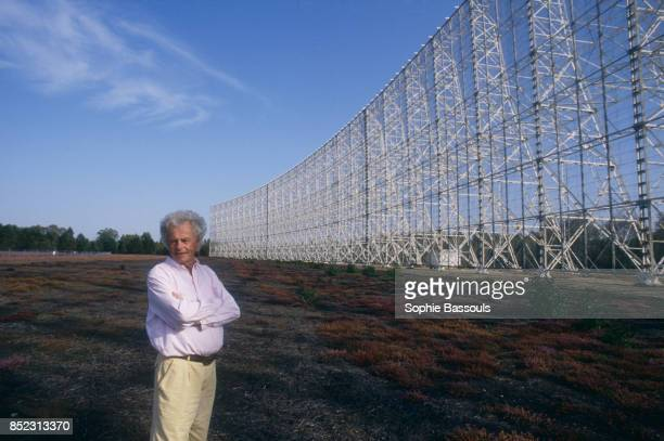 French astronomer and writer Jean Heidmann near the radio telescope of Nancay Heidmann is a lecturer and specialist in radioastronomy at the Paris...