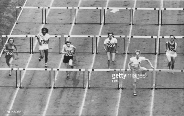 French athlete Jeanine Toulouse, American athlete Theresa Manuel , British athlete Joan Upton, Chilean athlete Marion Huber, Dutch athlete Fanny...