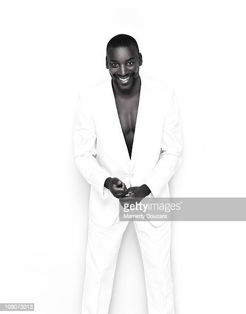 French athlete Ladji Doucoure poses at a portrait session in December 2010 in Paris Unpublished image