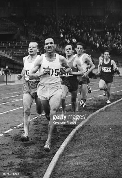 French Athletics Championship Release In The 5X100 Metres Race On August 4Th 1956